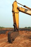 Part of Excavator Loader backhoe Stock Image