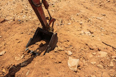 Part of  excavator machines,the buckets/shovels raised against s Royalty Free Stock Photos