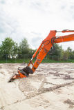 Part of excavator Royalty Free Stock Image