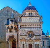 Part of facade from Basilica of Santa Maria Maggiore, Bergamo, I Royalty Free Stock Image