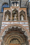 Part of facade from Basilica Santa Maria Maggiore, Bergamo, Ital Stock Photos