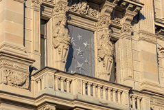 Part of the facade of the Credit Suisse headquarter building Stock Photography