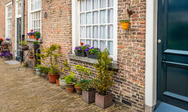 Part of the facade of the historic beguinage in the Dutch city o Stock Photography