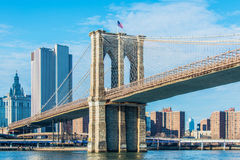 Part of famous Brooklyn bridge Royalty Free Stock Photography