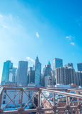 Part of famous Brooklyn bridge Stock Photography
