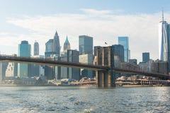 Part of famous Brooklyn bridge Stock Photos