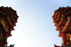 Part of  famous dragon and tiger towers in Taiwan Stock Photos