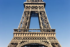 Part of the famous Eiffel Tower Stock Photo