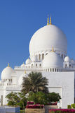 Part of famous Sheikh Zayed Grand Mosque Royalty Free Stock Photography
