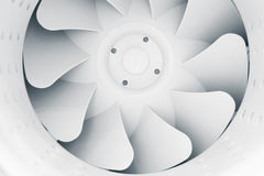 Part of fan blades of modern ventilation system Stock Photos