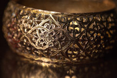 Part of the female bracelet in Moroccan style.  Royalty Free Stock Images