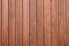 Part of fencing with brown varnish Royalty Free Stock Image