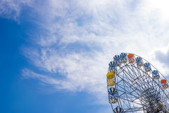 Part of ferris wheel with clear blue sky Royalty Free Stock Photos