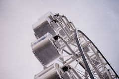 Part of a ferris wheel in monotone.  Royalty Free Stock Image