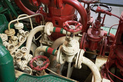 Part of fire sprinkler system in the ship Royalty Free Stock Images