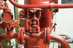 Part of fire sprinkler system Stock Photography