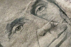 Part of Five Dollar Bill Macro Stock Images