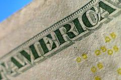 Part of Five Dollar Bill Macro Stock Photos