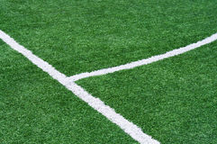Part of the floor markings of football. Part of a football field with marking Royalty Free Stock Images