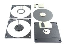 Part Flopy disk A repair. Part of Flopy disk with white background Royalty Free Stock Images
