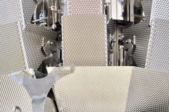 Part of food manufacturing machine. Part of machine in food manufacturing industry, with featured surface and texture, shown as a manufacturing equipment Royalty Free Stock Photography