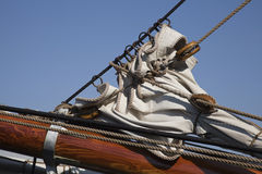 Part of foresail on a Schonner Royalty Free Stock Photos