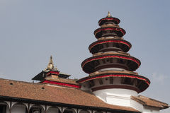 Part of the former presidential palace at Durbar Square in Kathm Royalty Free Stock Photos