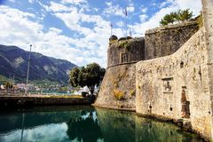 Part of fortifications of Kotor, Montenegro Royalty Free Stock Photo