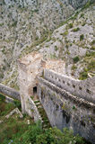 Part of the fortifications. One part of the fortifications in Kotor (Montenegro Stock Photography