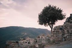 Part of the fortress at Jvari church. Part of the fortress at Jvari monastery near Mtskheta, Georgia Royalty Free Stock Image