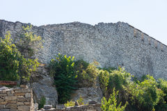 Part of the fortress wall in Hissar town of Lovech in Bulgaria Royalty Free Stock Photography