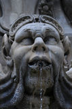 Part of the Fountain in Piazza della Rotonda Royalty Free Stock Image