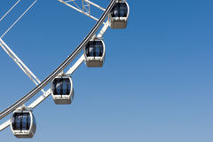 Part of Four White Ferris wheel Stock Image
