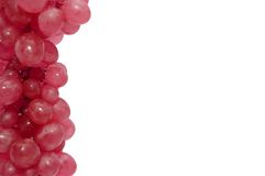 Part of a framework from ripe grapes Royalty Free Stock Photo