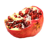 Part of fresh red pomegranate Royalty Free Stock Photos