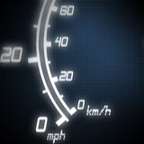 Part of futuristic speedometer. Blue Royalty Free Stock Photography