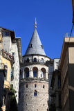 Part of Galata Tower Royalty Free Stock Photo