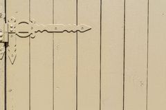 Part of a gate from wooden boards Royalty Free Stock Photography