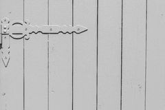 Part of a gate from wooden boards Stock Image