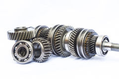 Part of gear box. On isolated background Royalty Free Stock Image