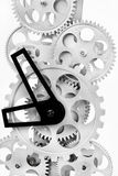Part of gears in a mechanical clock Stock Image