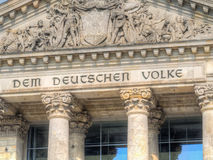 Part of German Reichstag in Berlin, Germany Royalty Free Stock Photos