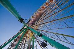 Part of Giant Wheel with blue sky Royalty Free Stock Photography