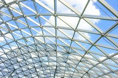 Part of glass dome in central city park. Part of glass dome in central city park `Zaryadye stock photography