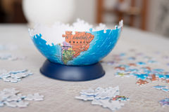 Part of the globe collected from puzzle Royalty Free Stock Photos