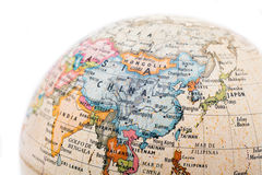 Part of a earth globe Royalty Free Stock Image