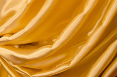 Part of the gold curtains Stock Photo