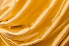Part of the gold curtains Stock Images