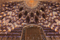 Part of golden ceiling in Guri Amir Royalty Free Stock Photo