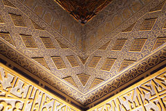 Part of golden wall in Guri Amir Royalty Free Stock Photo